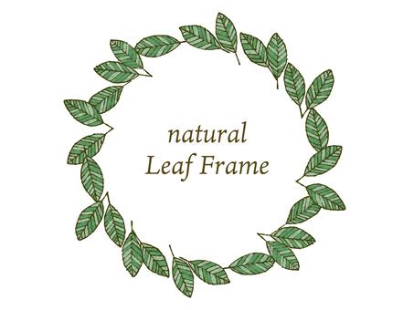 Natural leaf frame