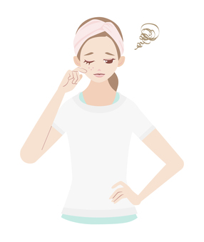 Skin care rough skin women