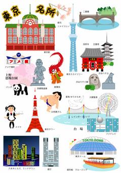 東京の名所、観光地