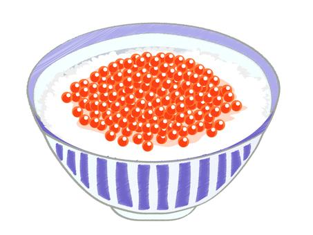Ikura-rice bowl