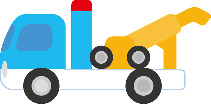 Simple tow truck car