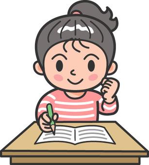 Elementary school / cram school guts girls 1