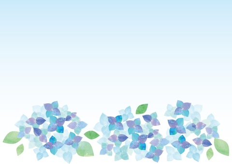 Watercolor hydrangea 2