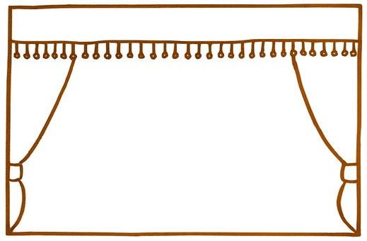Theater-like simple decorative frame Sepia