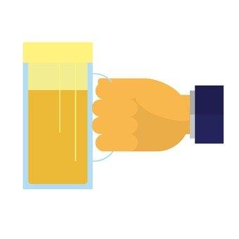 맥주를 든 손