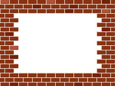 Brick pattern frame