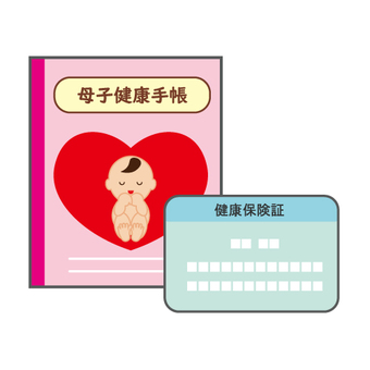 Maternal and child handbook and health insurance card