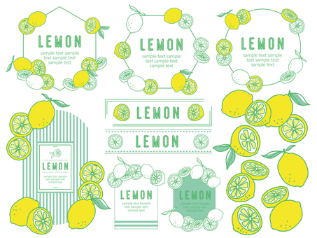 Illustration-like lemon material
