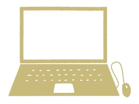 ノートパソコン_手描き