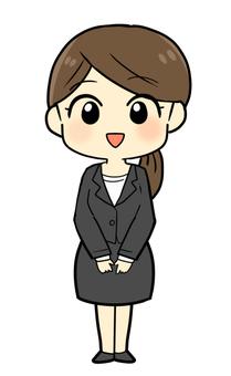 A suit woman