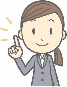 Recruit Suits Woman - Fingering Smile - Bust