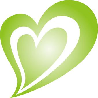 Heart _ double _ green