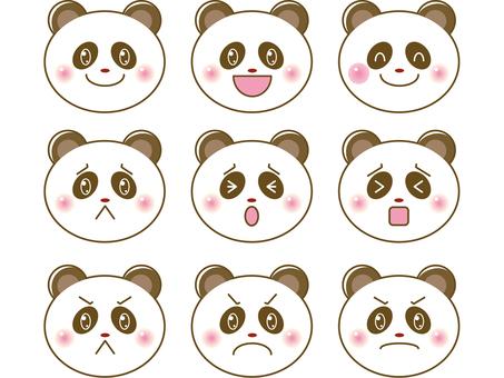 熊貓/臉上的插圖