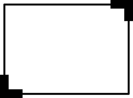 A black frame