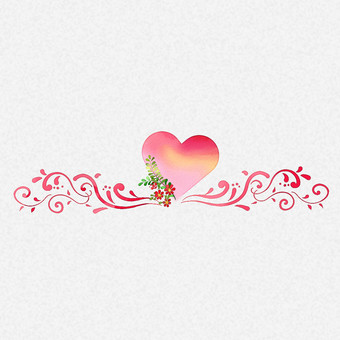 Flower and heart (line)