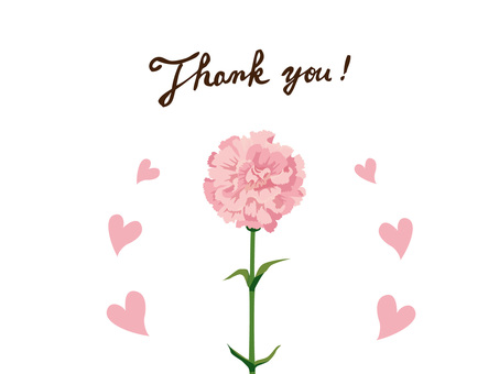 Mother's Day Carnation's Thank You Card 3