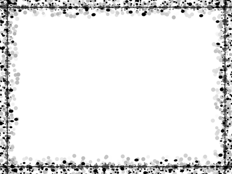 도트 & 사각 프레임 2 (흑백)