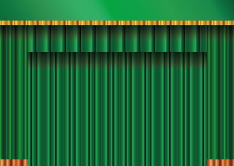 Background frame frame curtain curtain curtain velvet green