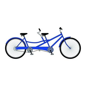 A two-seater bicycle