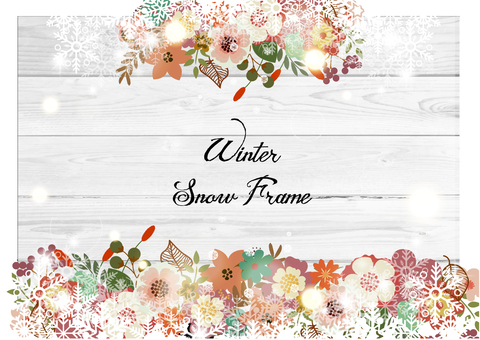 Flower decoration frame 26 Winter