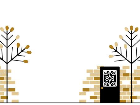 Door and tree frame