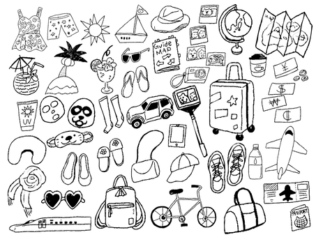 Travel goods Black and white monochrome travel