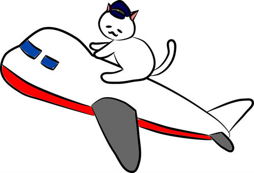 Nyanko and Airplane