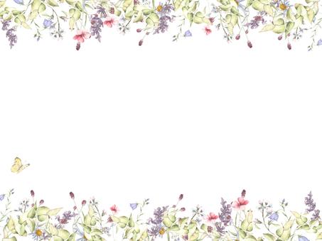 Flower frame 228 - lavender, bamboo flower frame