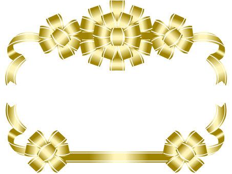 Gold ribbon frame