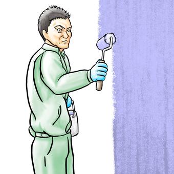 Painting craftsman-blue paint