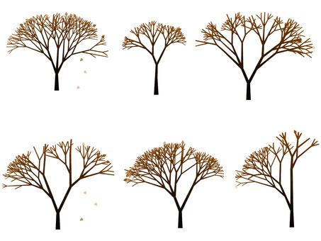 나무 일러스트 겨울 74