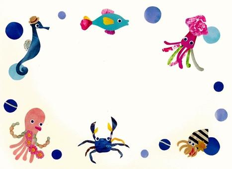 Ocean companions frame