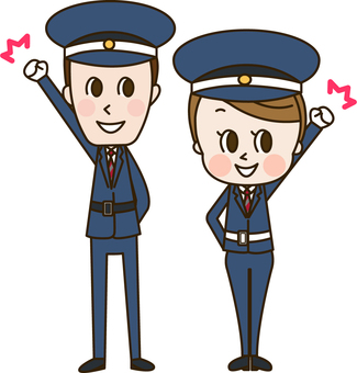 A male and female security guard who is supposed to be a guy (security 3)