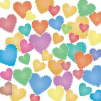 Heart texture sample (pastel)