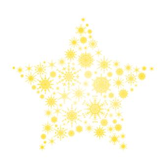 Snow crystal star 3