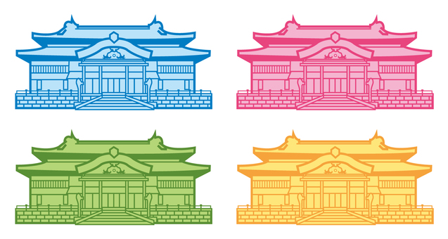 Shuri castle illustration