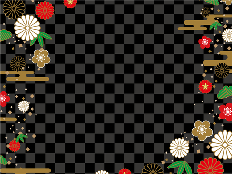 Japanese Pattern Background (Black) 04