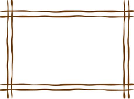 Hand-drawn wire frame
