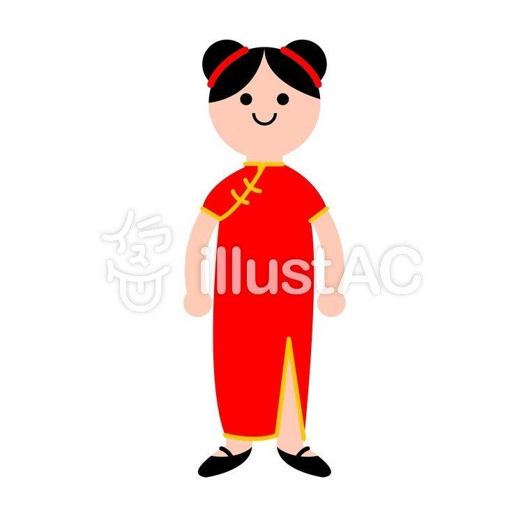 中国人女性イラスト No 98476無料イラストならイラストac