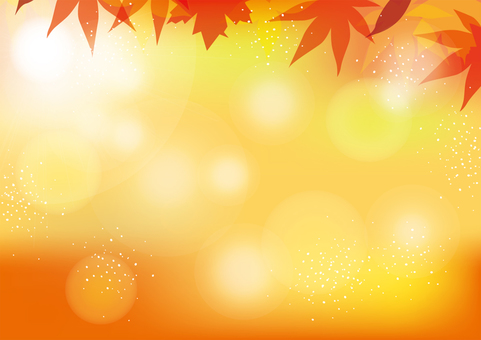 Autumn leaves background horizontal 02