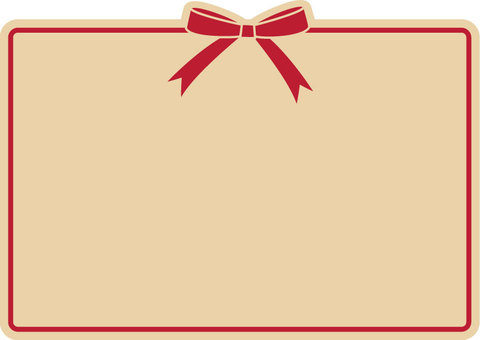Ribbon frame (beige × red)