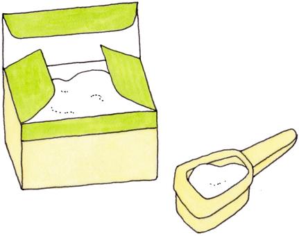 粉末肥皂和量匙