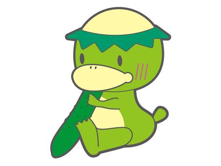 Kappa to eat cucumber