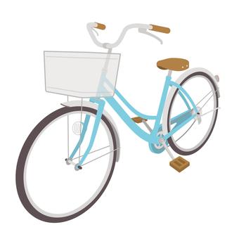 青色の自転車2