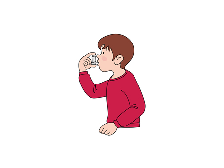 Patients who drink medicine for asthma