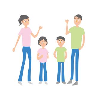 家庭父母和孩子6