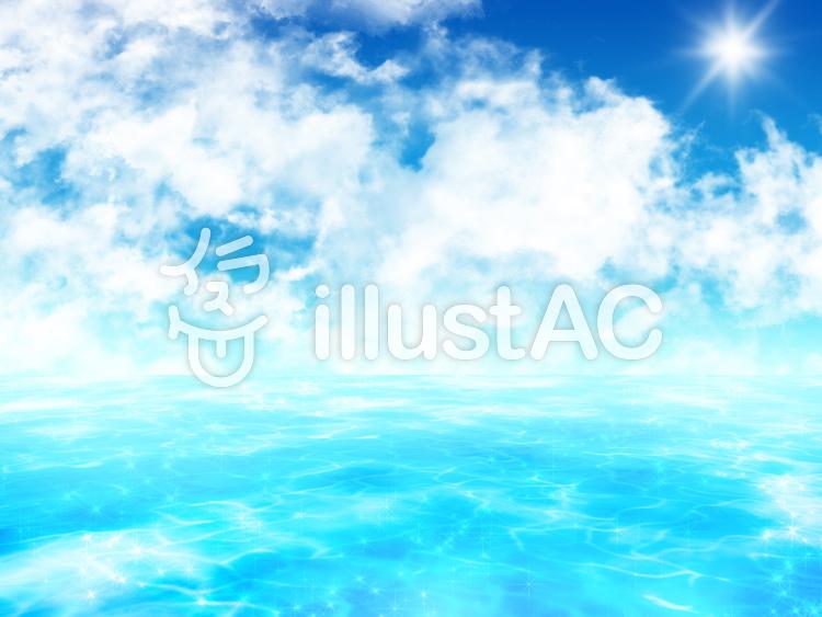 【フリーイラスト素材】海2