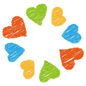 หัวใจ 31_08 (กรอบ·ดินสอสี)