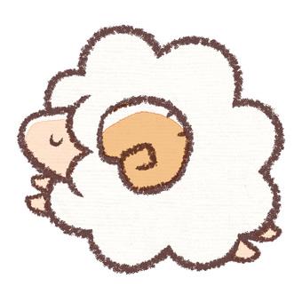 Sheep flying (sleeping edition)