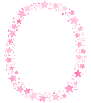 Water color star circle frame 6